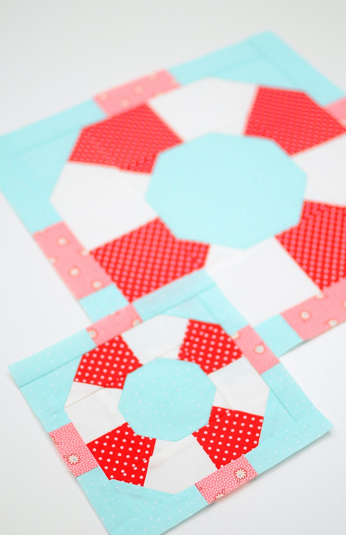Lifesaver quilt block in two sizes