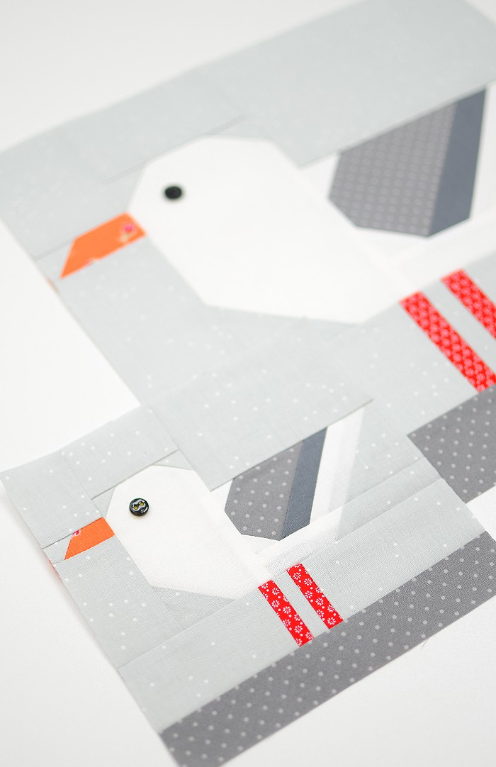 Seagull quilt block in two sizes