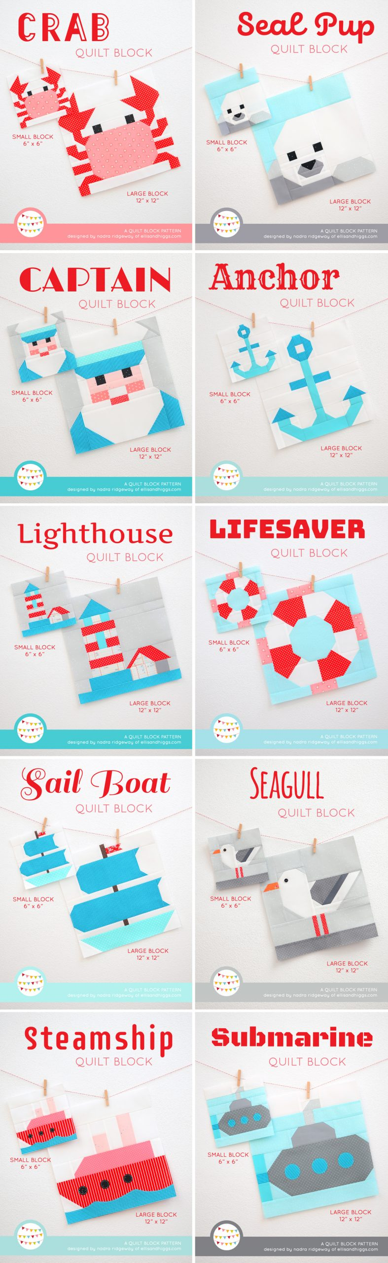 Ten nautical quilt patterns