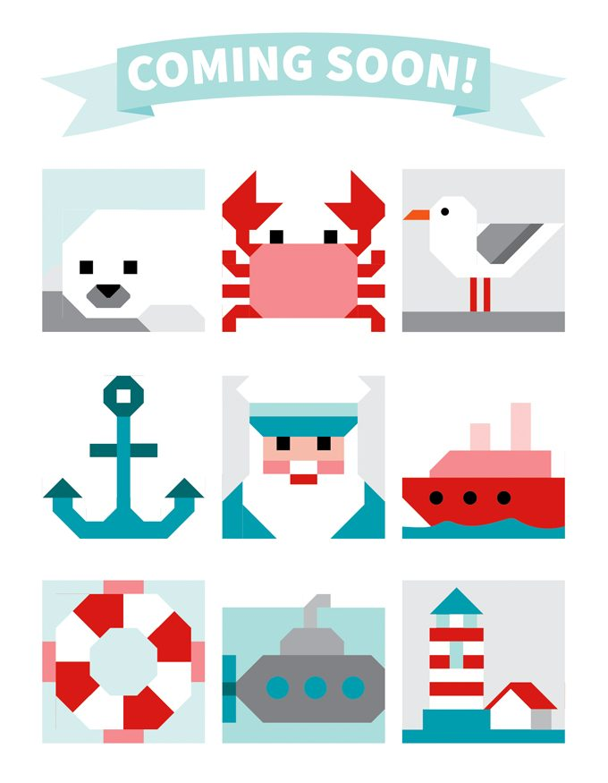 Nine different nautical quilt pattern designs coming soon!