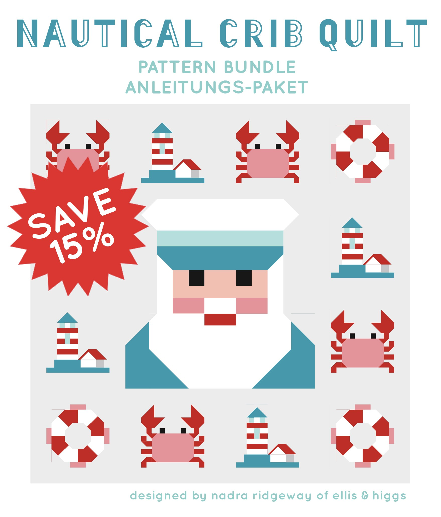 Nautical crib quilt pattern