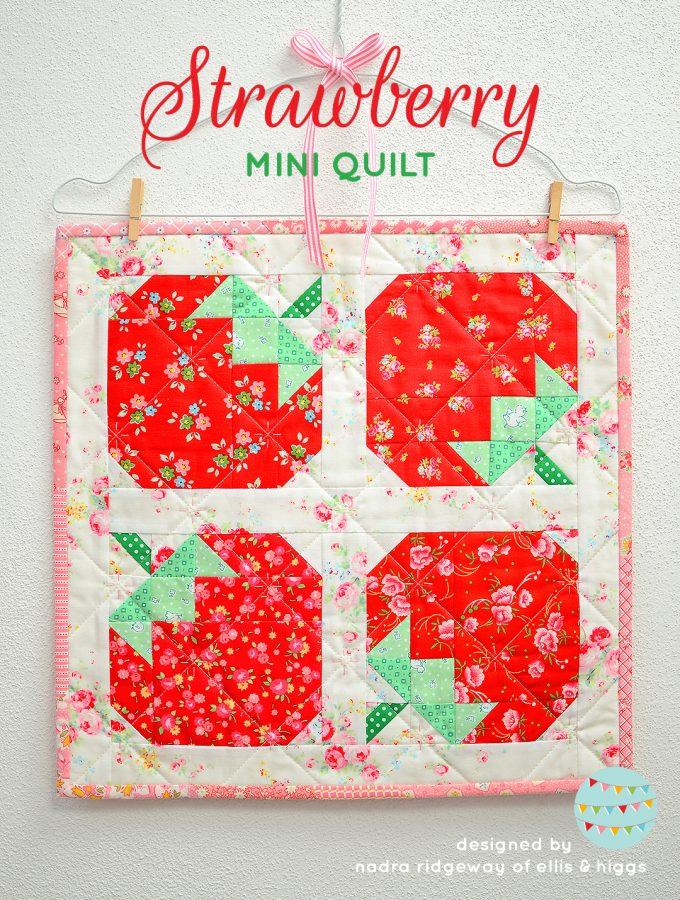 Strawberry quilt pattern - mini quilt