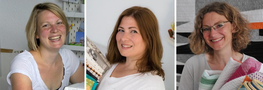 """Die drei Gründerinnen von """"Das Quilt Kollektiv"""" Friederike, barbara und Daniela"""