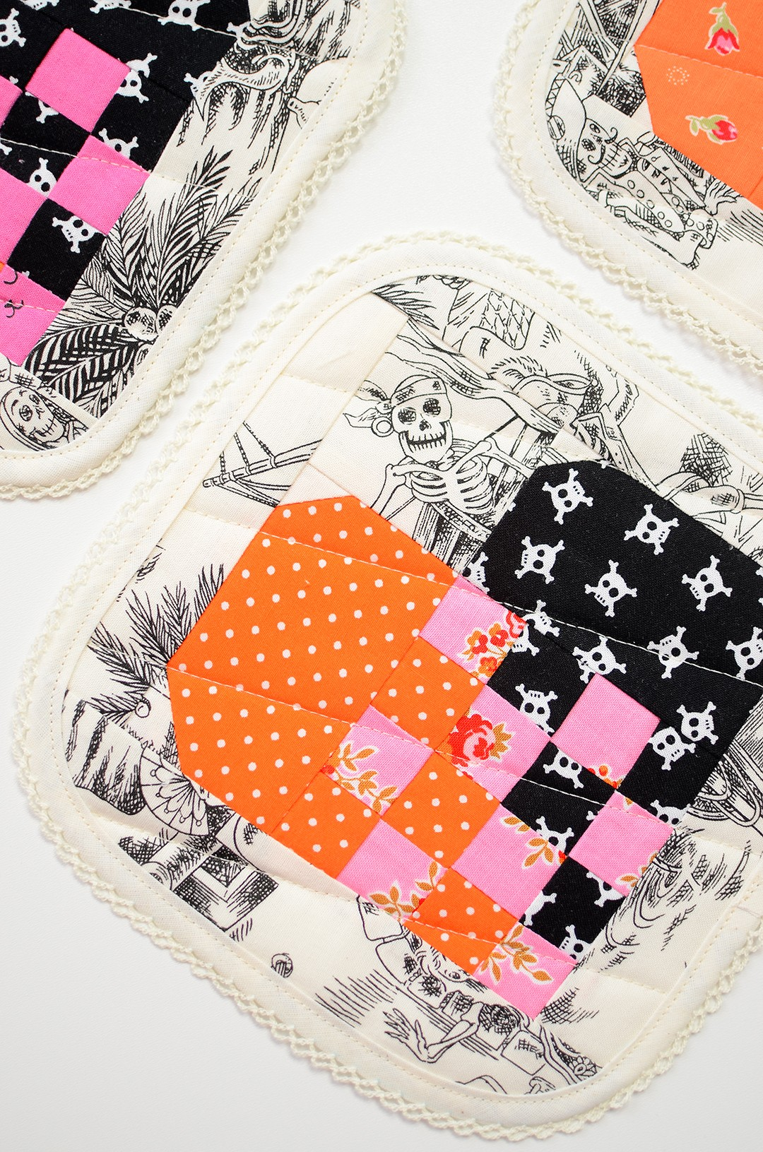 Quilted coasters for Halloween
