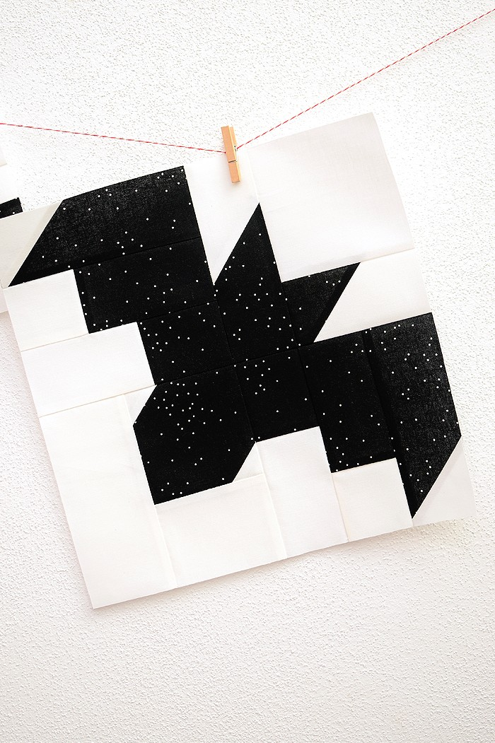 12 Inch Bat quilt block hanging on a wall