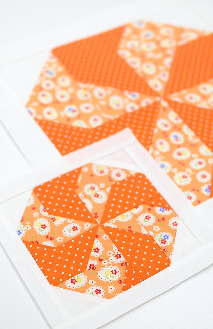 Candy quilt block in two sizes