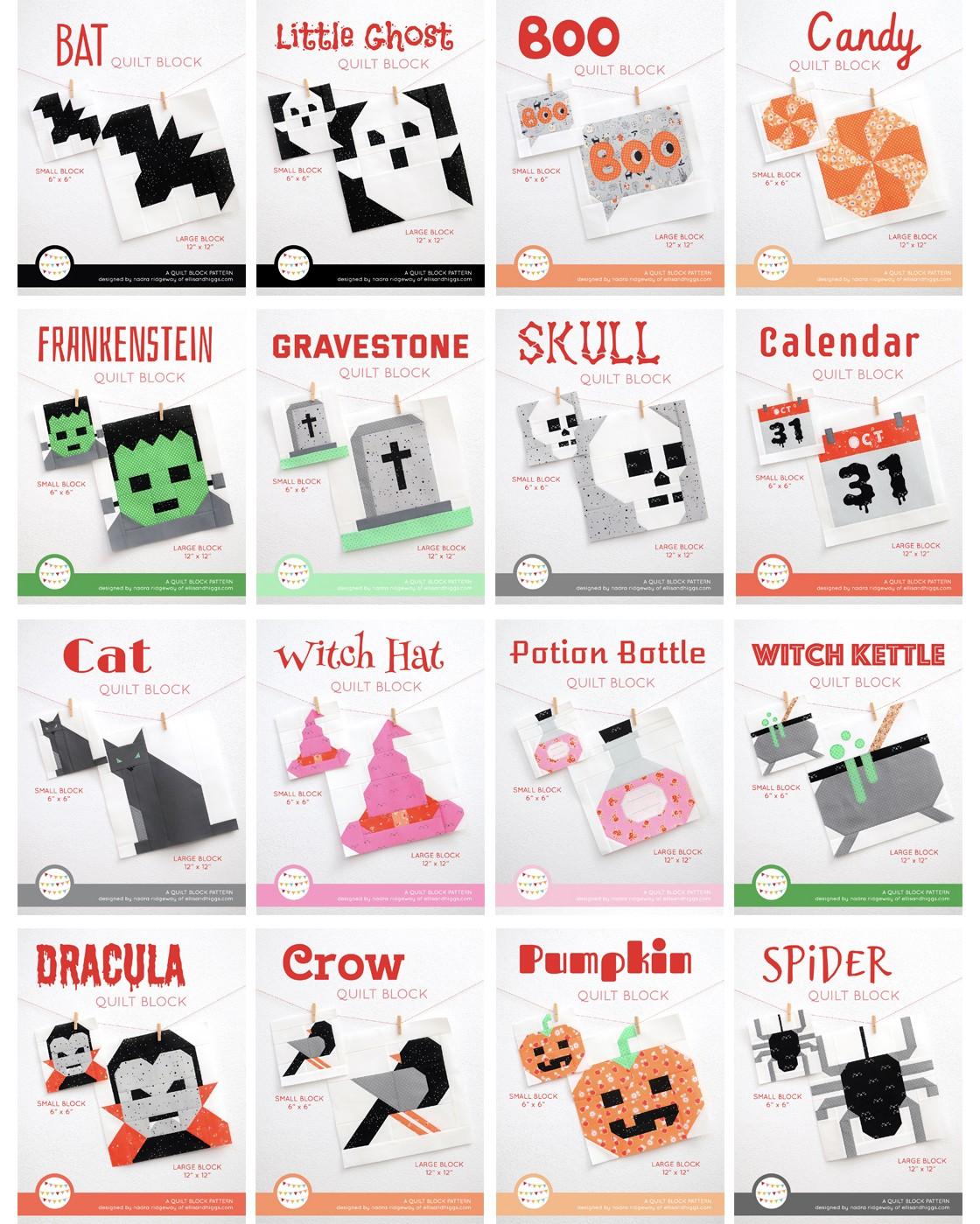 Sixteen Halloween quilt patterns