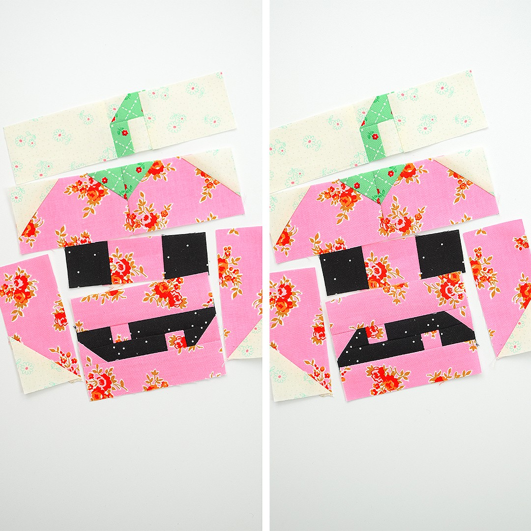 Pumpkin quilt blocks
