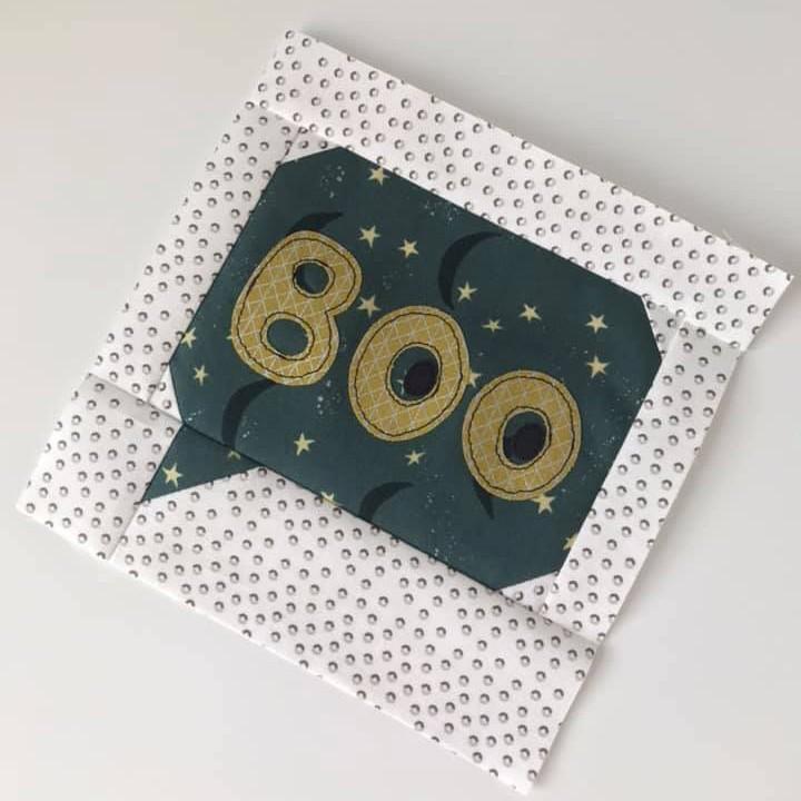 Boo quilt block