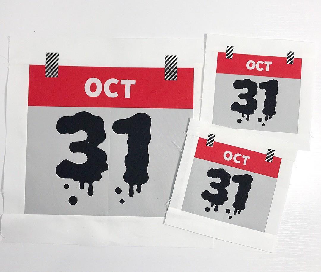 Calendar quilt blocks