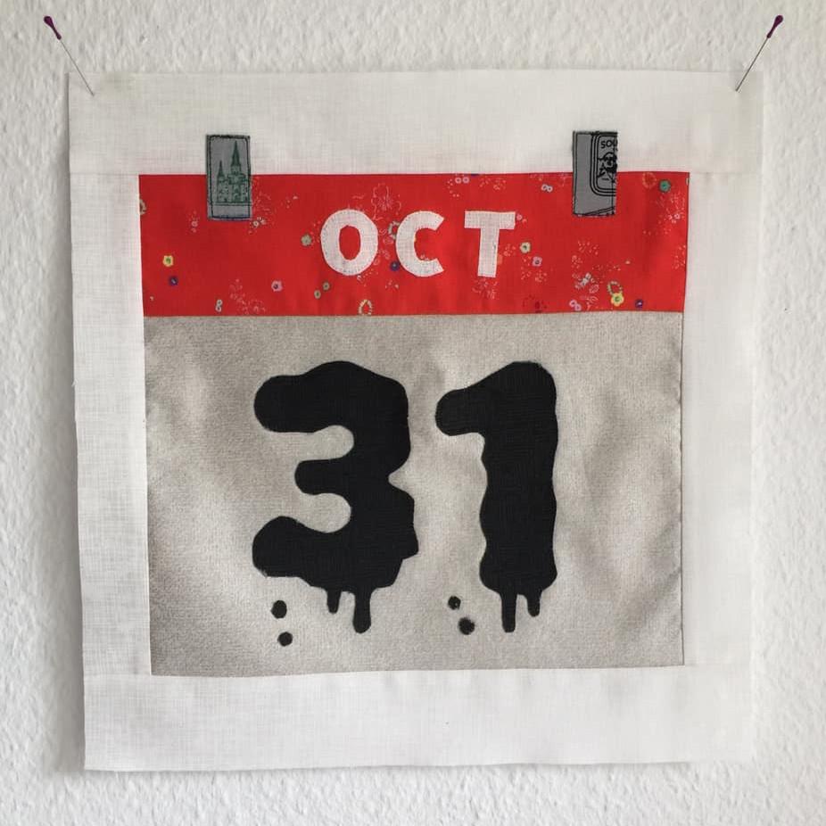 Calendar quilt block