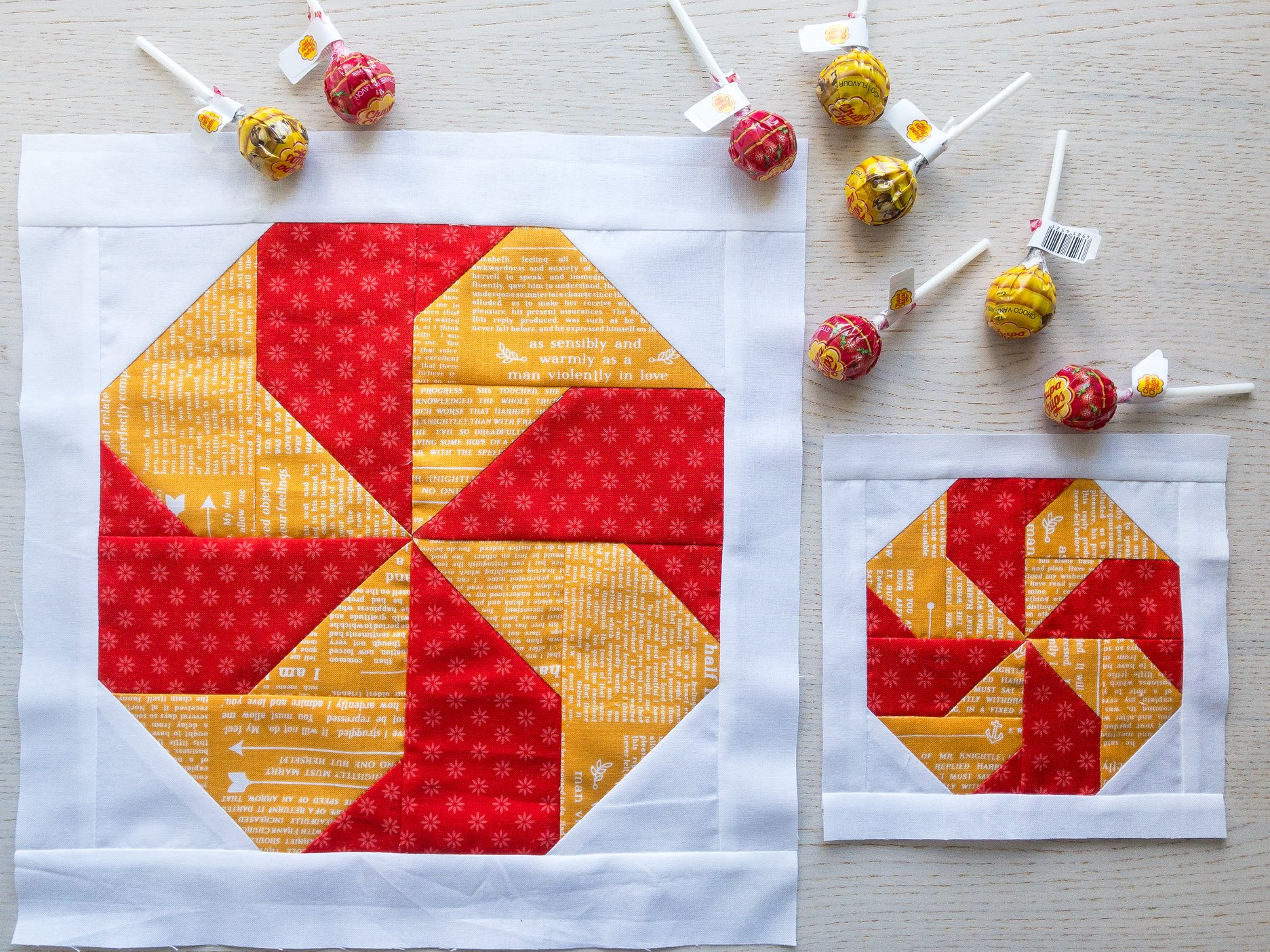 Candy quilt blocks
