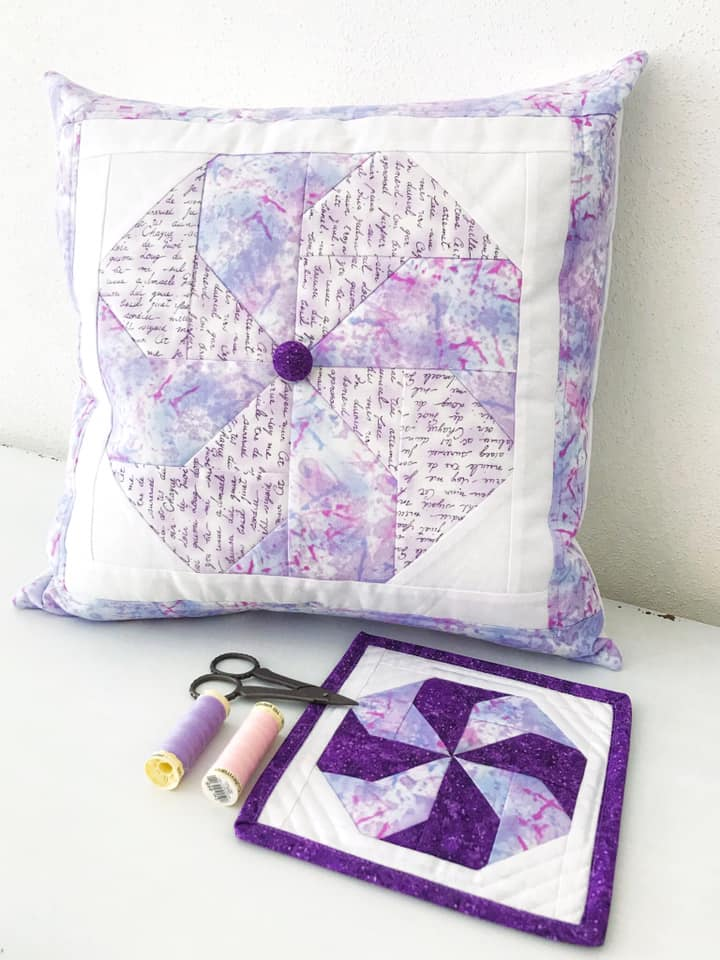 Candy mini quilt and pillow