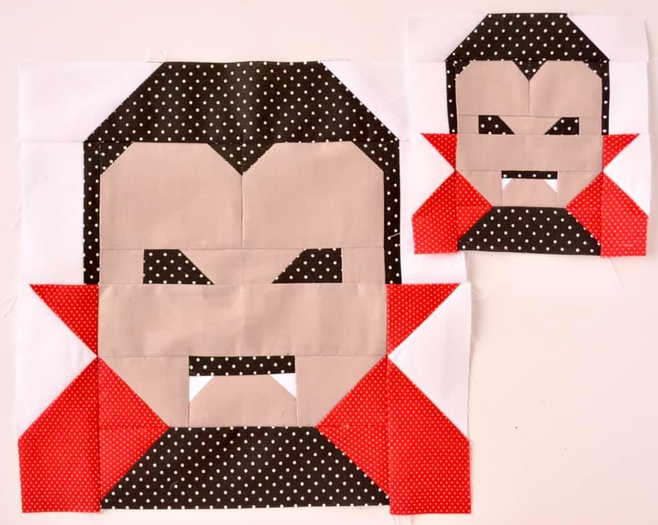 Dracula quilt blocks