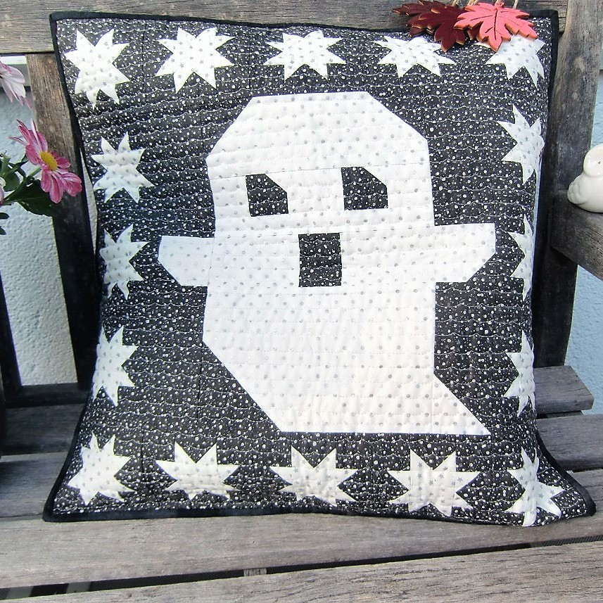 Quilted Ghost pillow