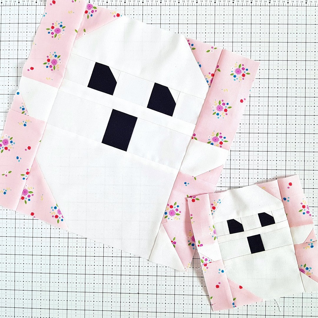 Ghost quilt blocks