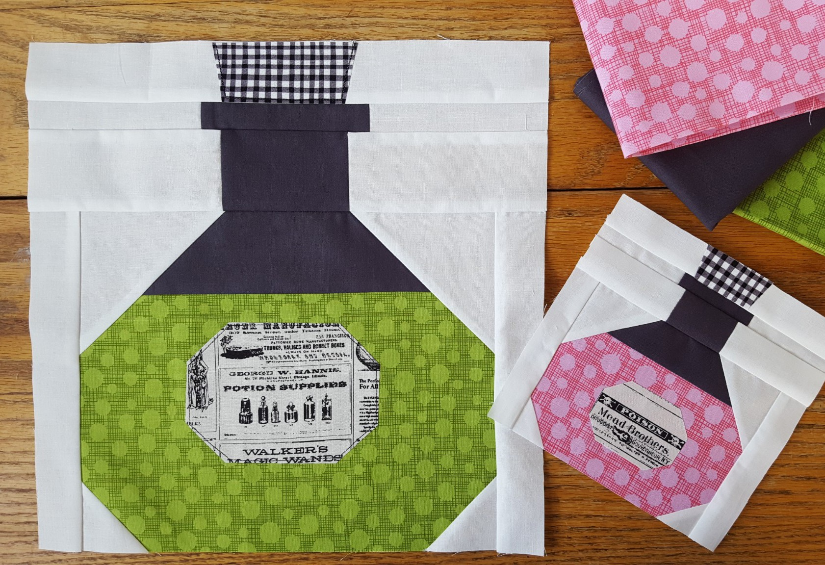 Potion Bottle quilt blocks