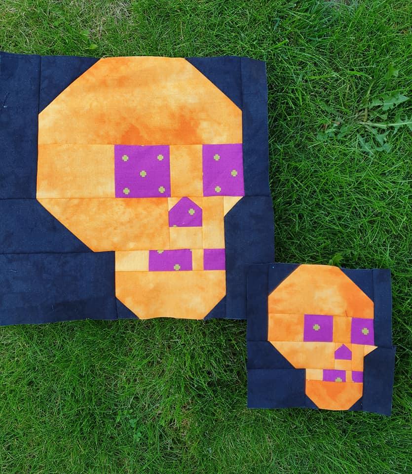 Skull quilt blocks