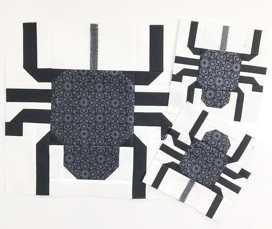 Spider quilt blocks