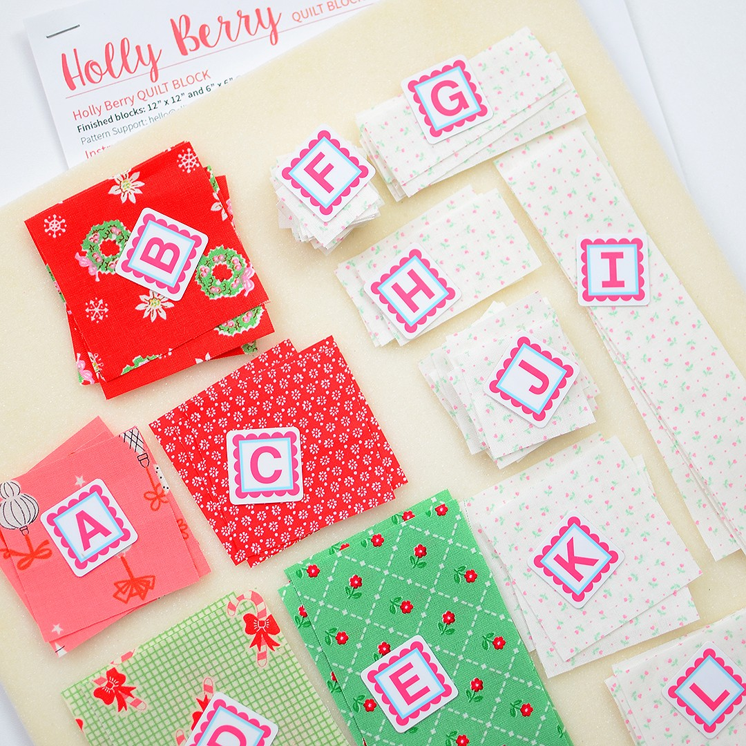 Holly Berry Christmas quilt pattern