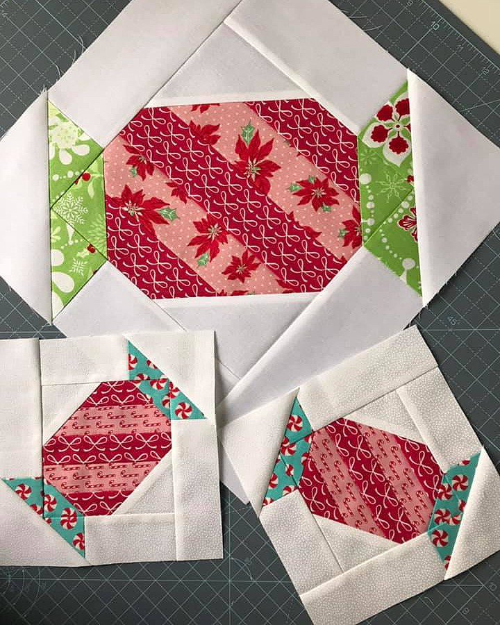 Christmas Candy quilt blocks