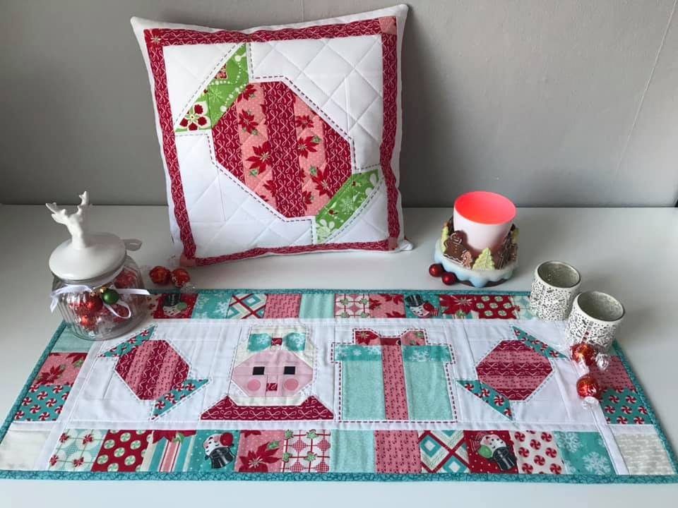 Christmas Candy quilted pillow
