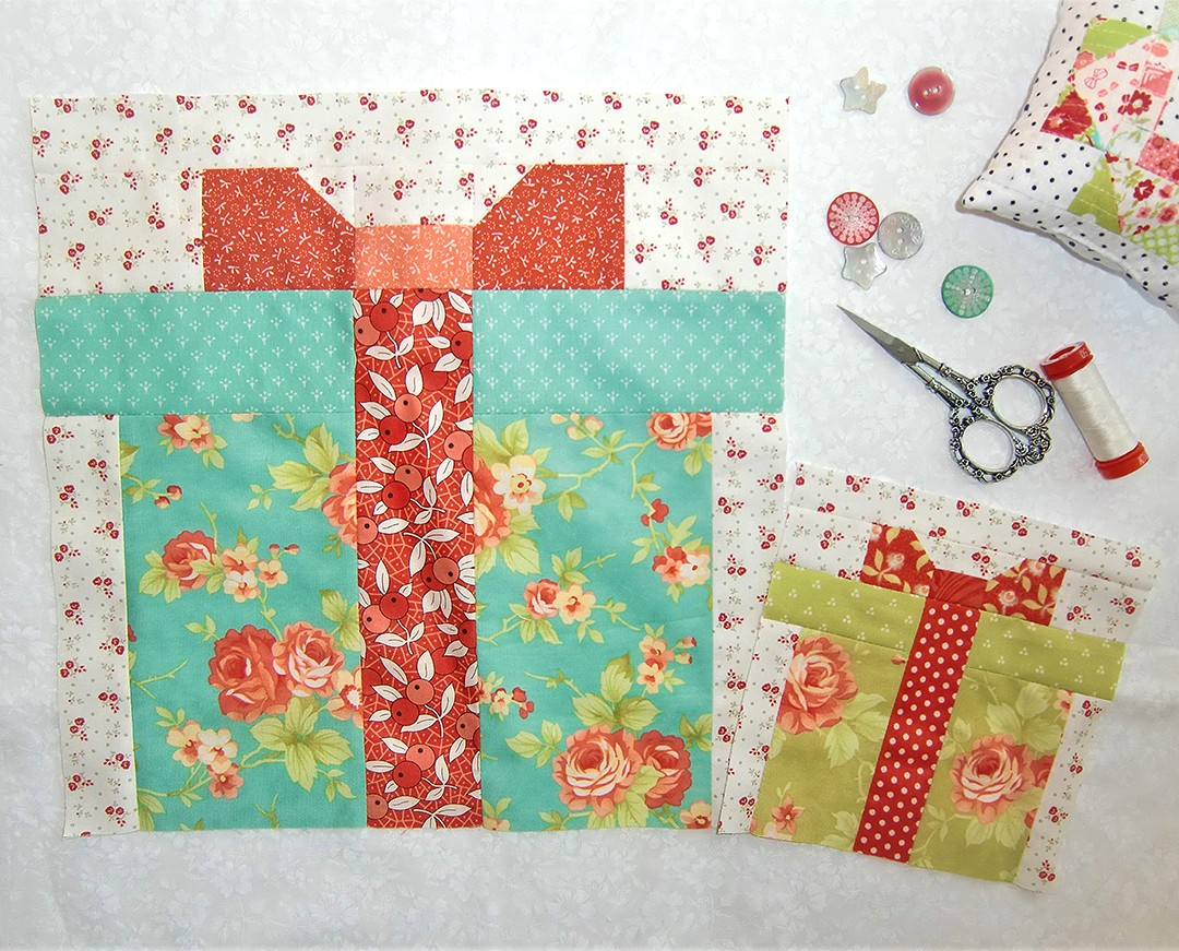 Christmas Present quilt blocks