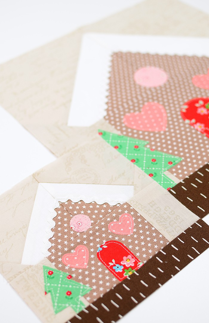 Gingerbread House quilt blocks