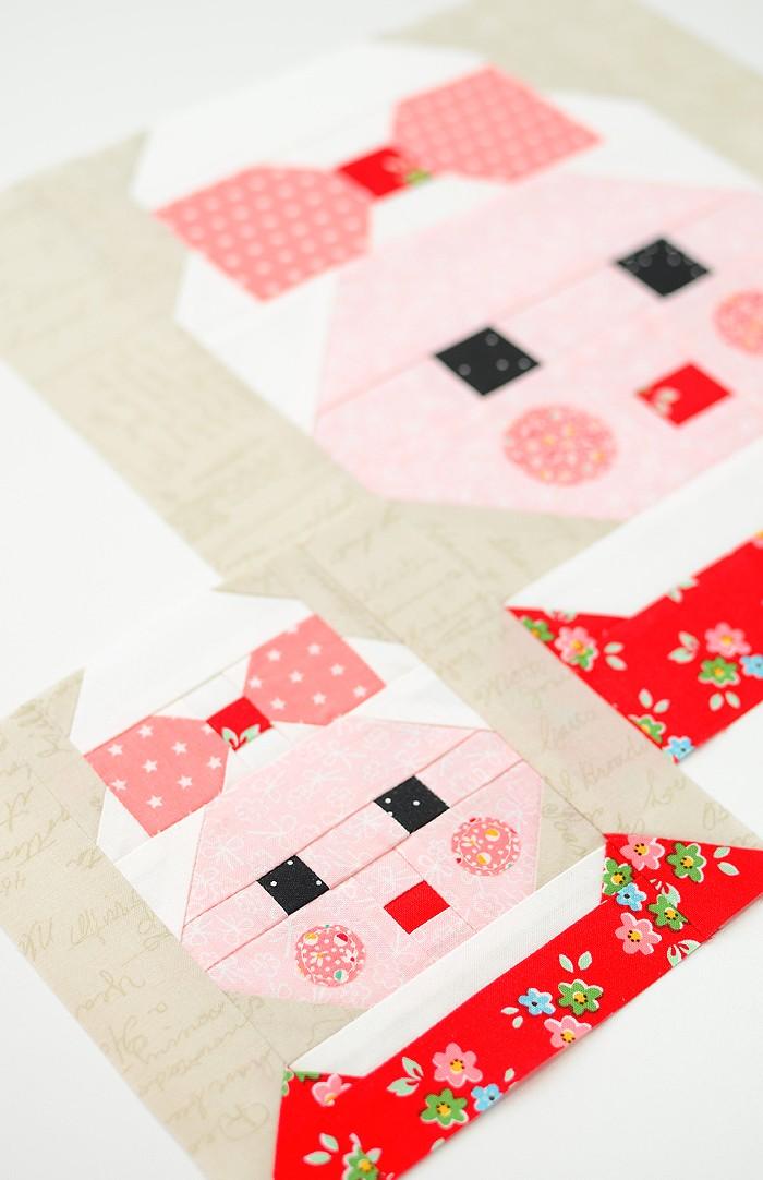 Mrs Santa Claus quilt blocks