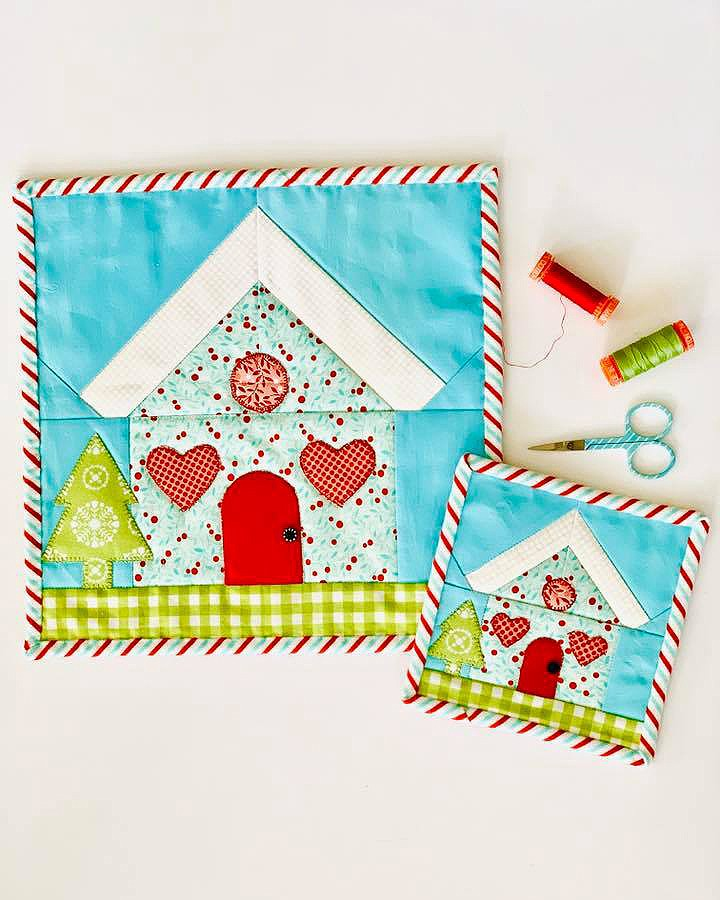 Gingerbread House mini quilts