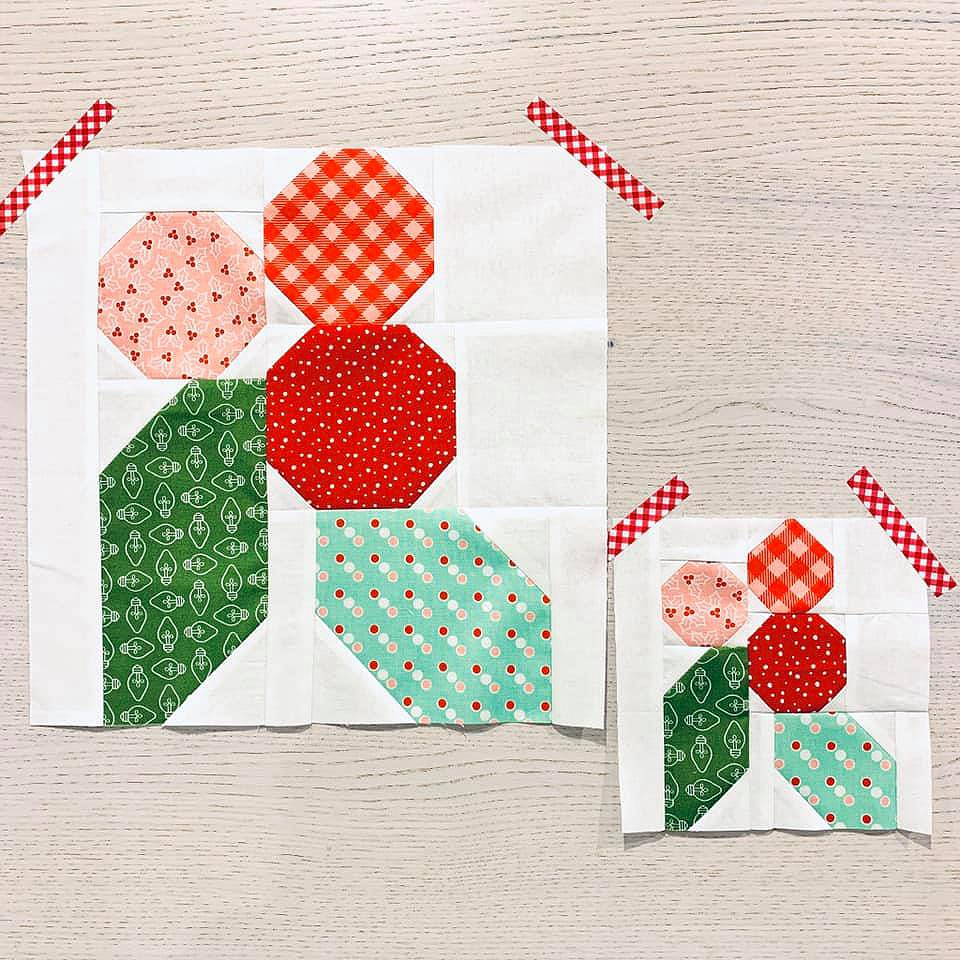 Holly Berry quilt blocks