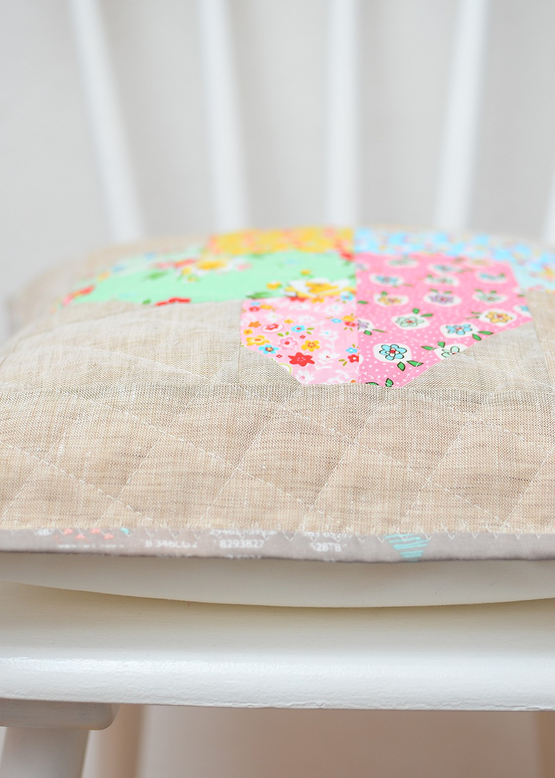 Quilted throw pillow