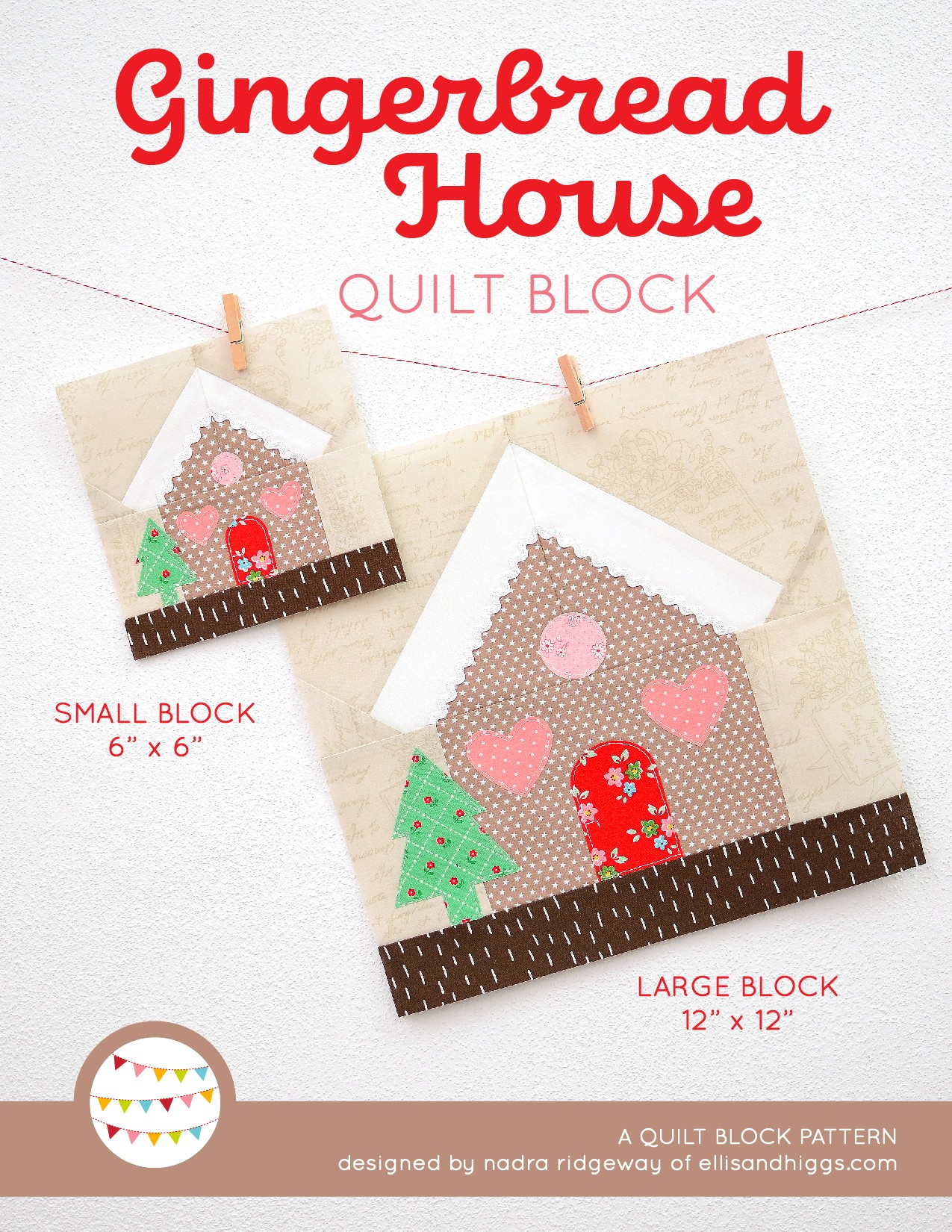 Gingerbread House Christmas quilt pattern