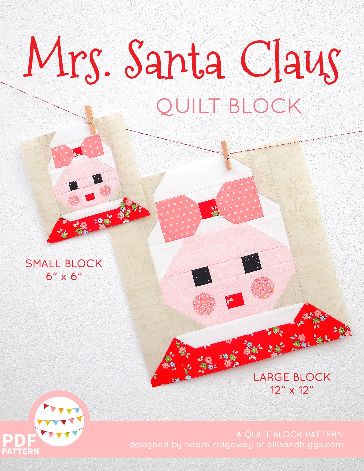 Mrs. Santa Claus Christmas quilt pattern