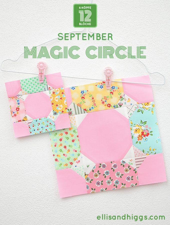 6 Köpfe 12 Blöcke 2019 - Magic Circle Quilt Block