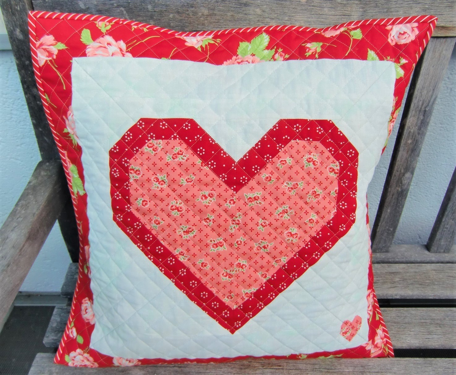 XOXO Quilted Pillow