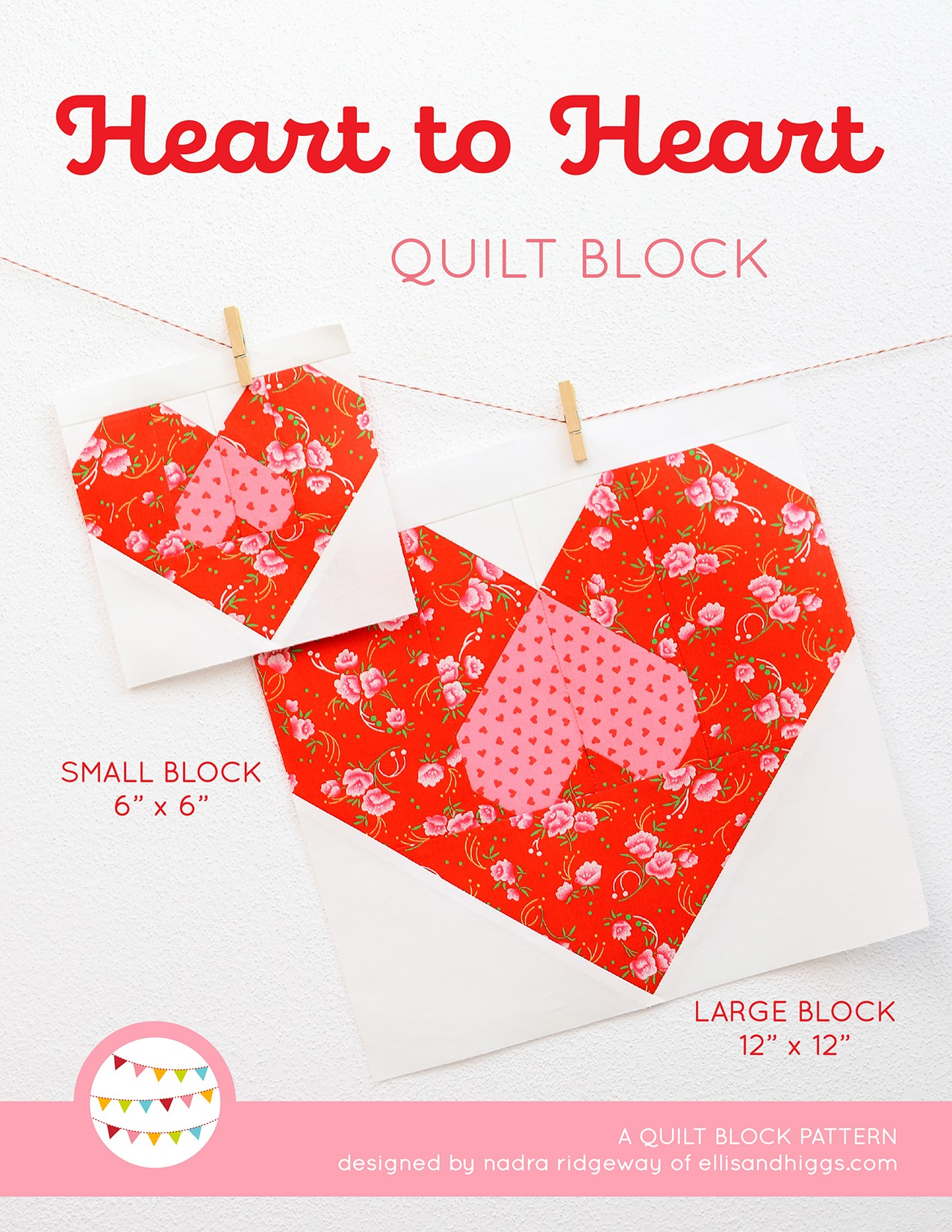 Heart Quilt Pattern Cover