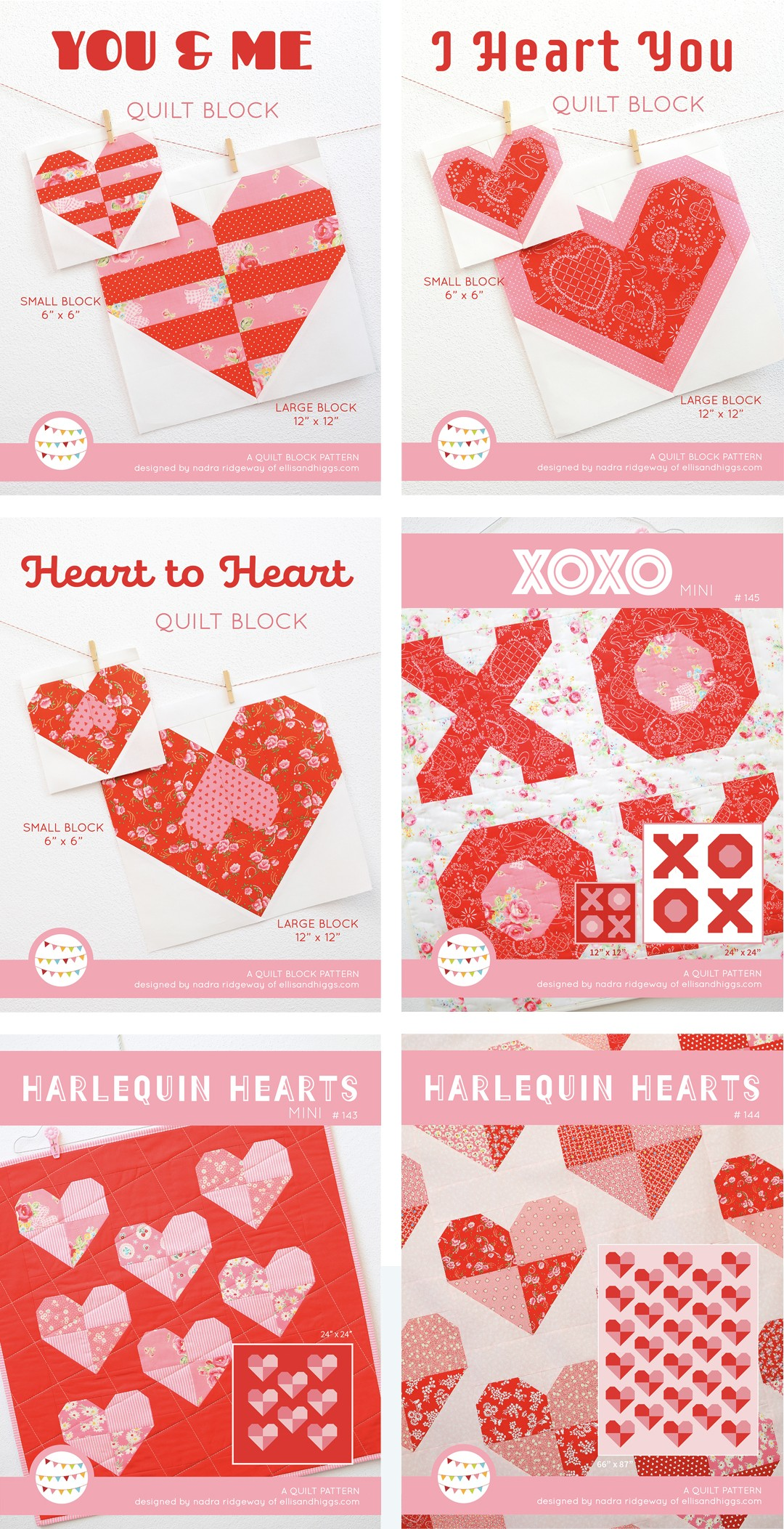Heart Quilt Patterns Cover