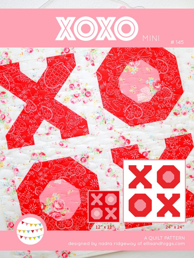 XOXO - Valentine's Day Quilt Pattern Cover