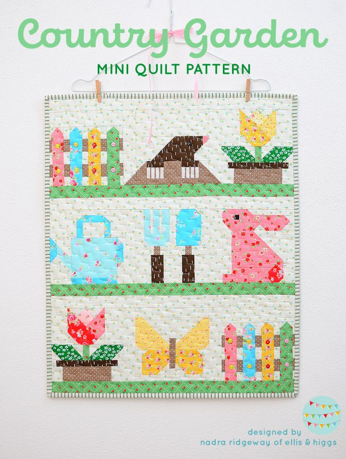 Country Garden quilt pattern - Mini