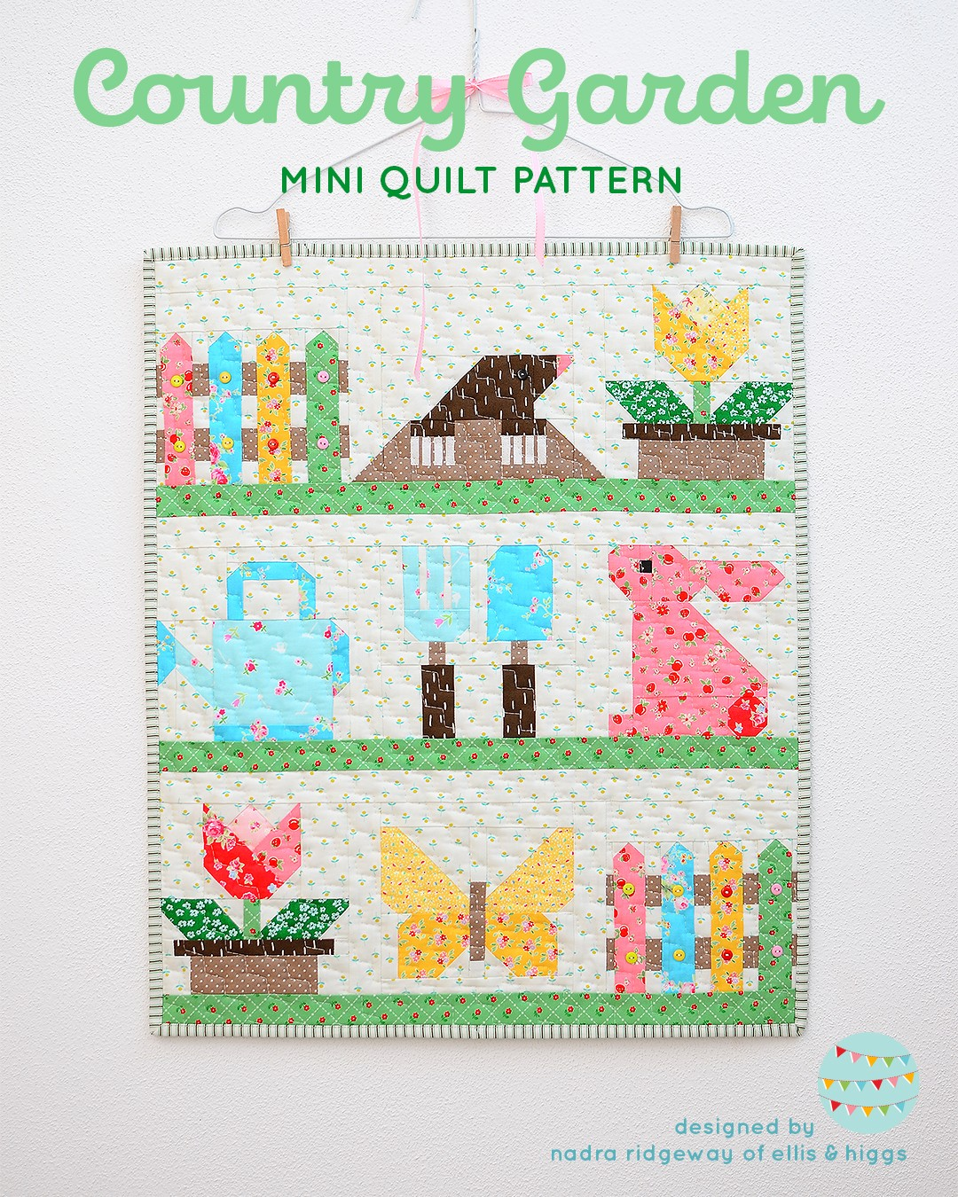 Country Garden Spring mini quilt pattern