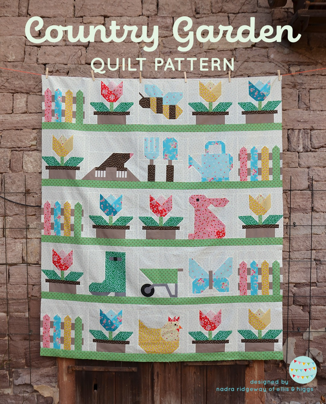 Country Garden Spring quilt pattern