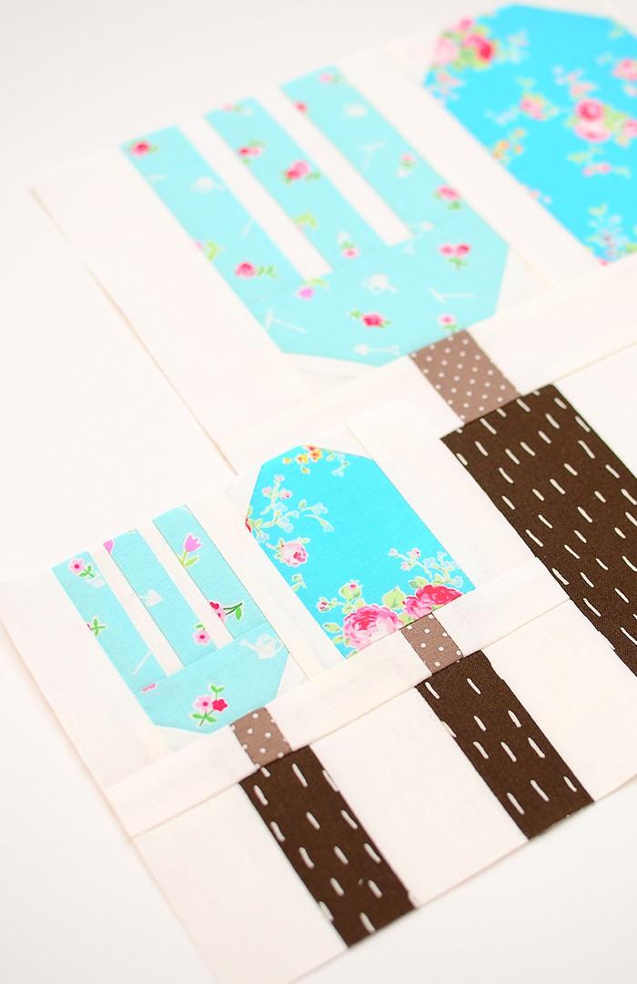 Fork & Trowel quilt blocks