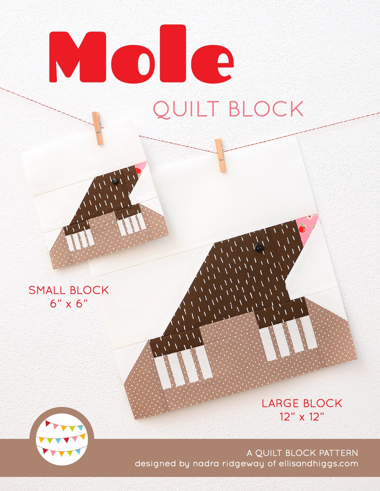 Mole quilt blocks