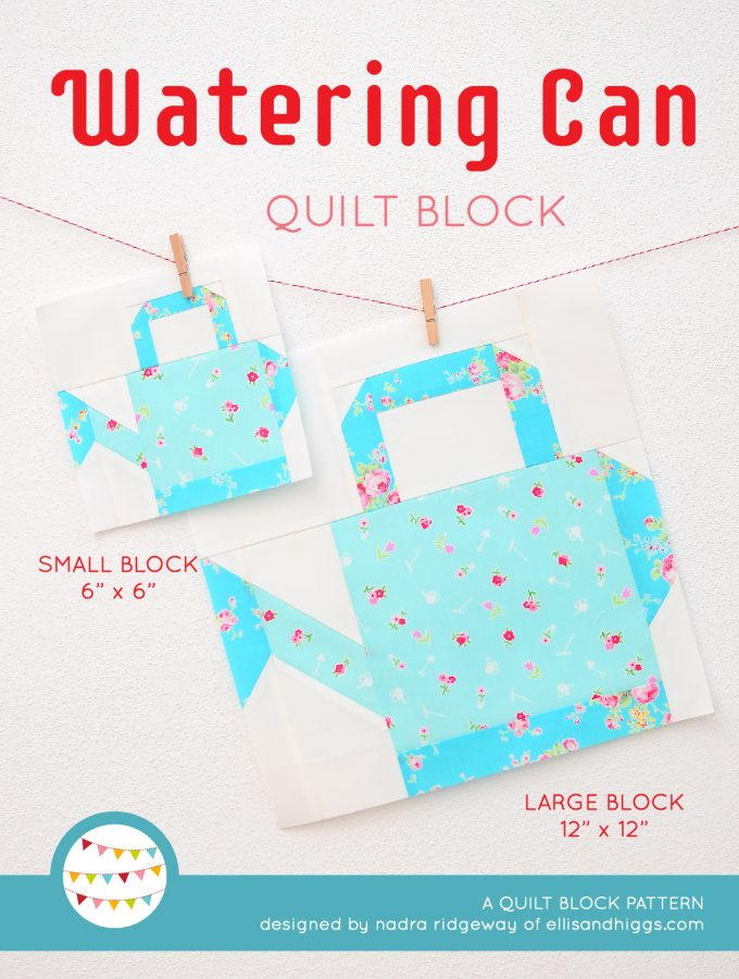 Watering Can quilt blocks