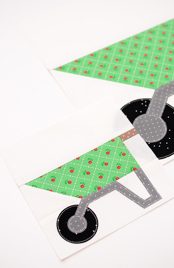 Wheelbarrow quilt blocks