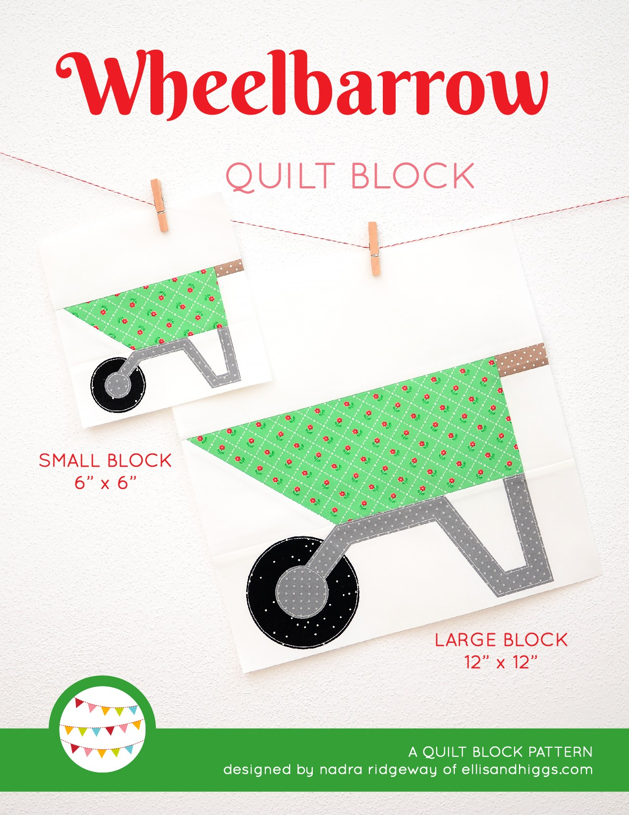 Wheelbarrow quilt blocks