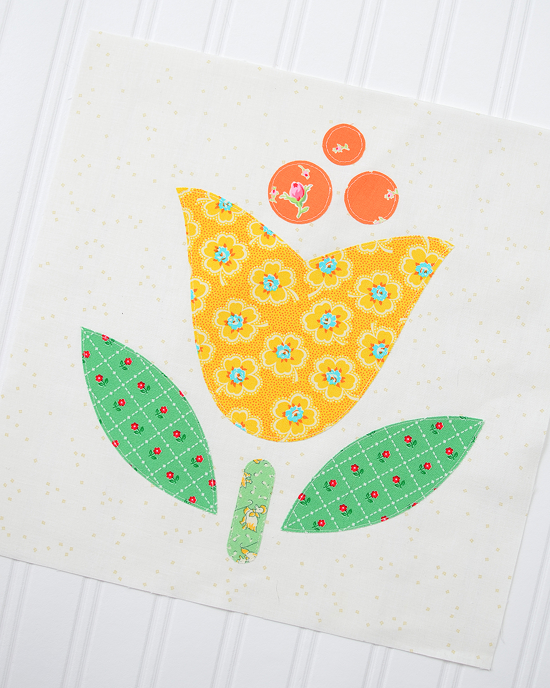 Tulip appliqué - interfacing appliqué technique