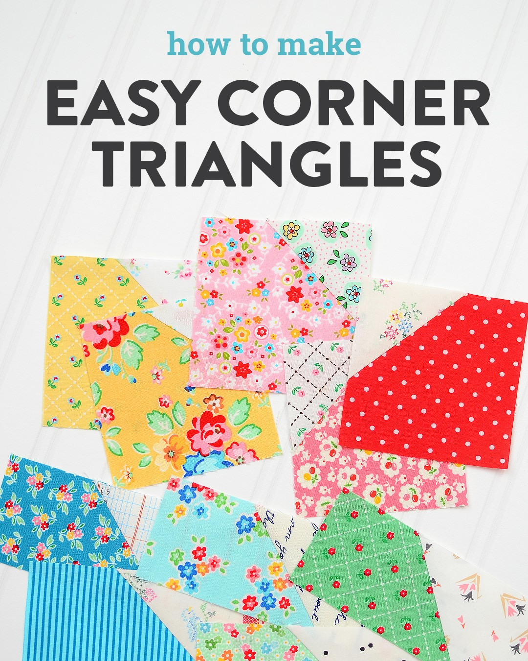 Quilt blocks with Easy Corner Triangles