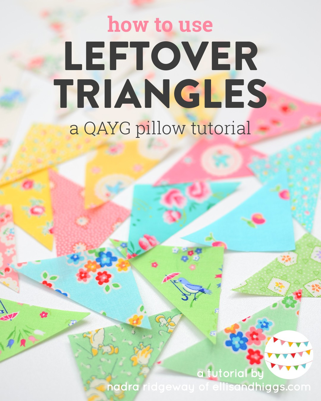 Leftover cotton fabric triangles